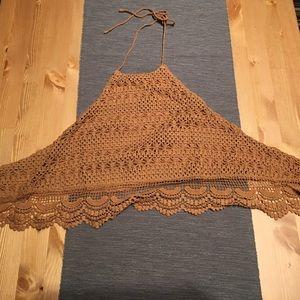 Knit halter top